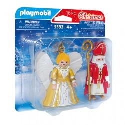 San Nicolás y Ángel de Navidad